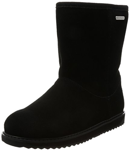 Waterproof Lo Boots EMU Paterson Womens Classic Australia Skin in Black Charcoal Liner EHwSqwY