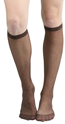 ToBeInStyle Womens Pack of 6 Muted Knee High Stockings - Coffee - One Size -