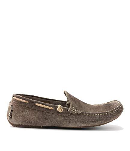 Dorado Leather - ROAN Men's El Dorado Leather Driver Shoe (10.5 M US, Taupe Black BFS)