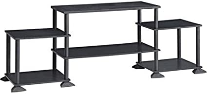 Mainstay Multiple Shelves No Tools 3-Cube Storage Entertainment Center for TVs up to 40 Black Oak