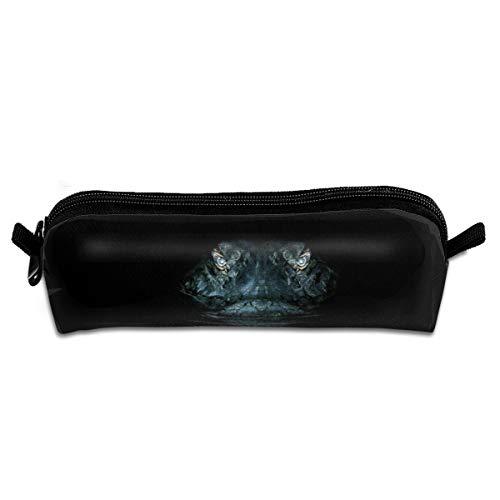 Kui Ju Pencil Bag Pen Case Crocodile Eye in Dark Cosmetic Pouch Students Stationery Bag Zipper Organizer