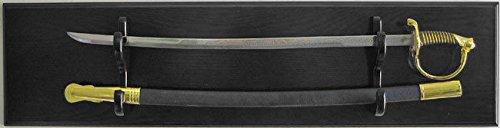 Black Finish Military Usmc Army Navy Sword Display Rack Holder Fits Most Sword