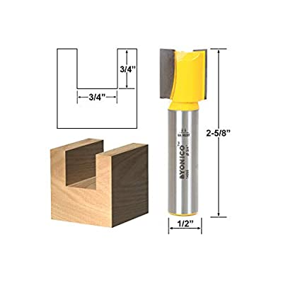 Yonico 13210 2 Bit Log Cabin Building Block Toy Router Bit Set 1/2-Inch Shank