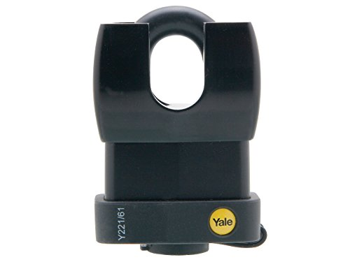 Yale Y221/61/130/1 Black Weatherproof Closed Shackle Padlock 61 mm (Closed Shackle Steel Padlock)