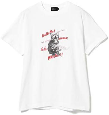 /半袖プリントTシャツ スマイリー キャット プリント Tシャツ メンズ