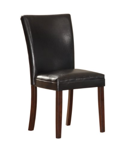 Homelegance 3276S-CR Bi-Cast Vinyl Parson Dining Chair (Set of 2), Dark Brown