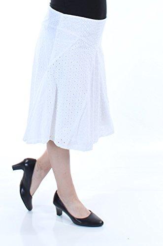 Lauren Ralph Lauren Women's Eyelet Cotton A-Line Skirt in White ()