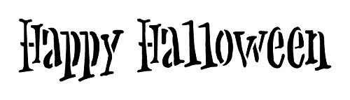 Happy Halloween - Handwritten Grunge - Word Stencil