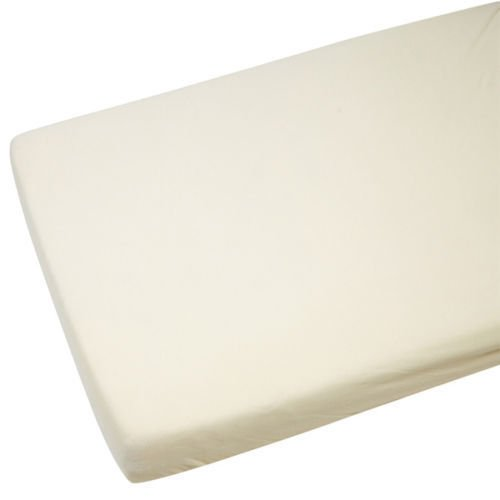 2x Cot Bed Jersey Fitted Sheets 100% Cotton 140cm x 70cm Cream For-Your-Little-One