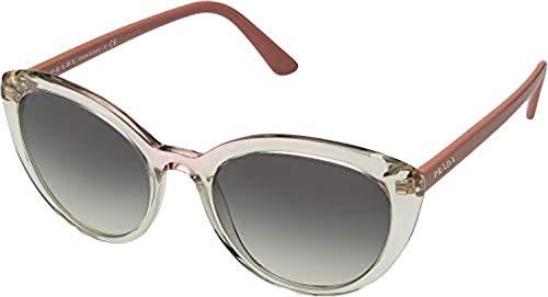 Prada Women's 0PR 02VS Transparent Brown Pink/Grey Gradient One Size