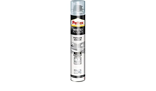 1 K de pistola de espuma Pattex White PU Color Blanco, 750 ml, 12 unidades): Amazon.es: Bricolaje y herramientas