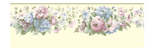 York Wallcoverings Small Treasures - Cenefa prepegada con diseño de paisaje arquitectónico, Papel tapiz, beige .117