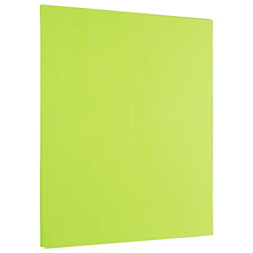 - JAM PAPER Colored 24lb Paper - 8.5 x 11 - Ultra Lime Green - 500 Sheets/Ream