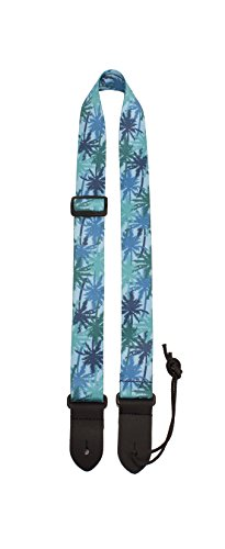Perris Leathers Guitar Strap BLUE PALM TREES UKLPCP-7092