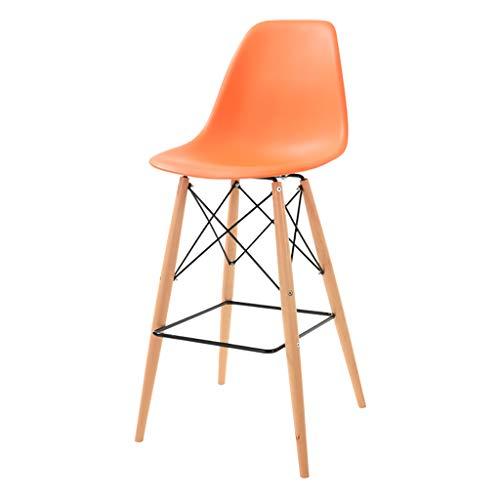 - ZCCGJD Solid Wood bar Chair Creative European Style Backrest bar Chair Simple High Stool (Color : C)