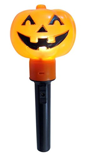 Halloween Pumpkin Safety Flashlight for Kids Light Up Stay Safe Trick Or Treating Wand
