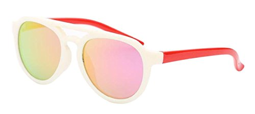 558f8c9d607a COOLSOME Bendable Rubber Kids Polarized Aviator Sunglasses Boys Girls REVO  Lens Sunglasses Age 3-9 Yr (White Red).  9.95. Torege Polarized Sports ...