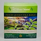 Neem Queen Tea Bags (30 Count) Individually Wrapped for Travel - Organic, Green, America's Choice - Slow Dried Under Shade and Prepared in Pyramid Tea Bags and Made in USA