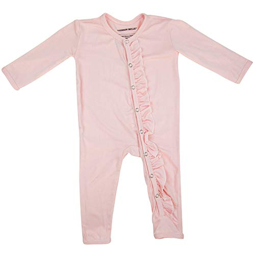 ADDISON BELLE Premium Knit One Piece Baby Romper Ultra Soft & Breathable - 0-3 Month Size (Rose)