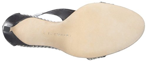 Women's Tahari Black Connor Elie Sandal White wO6dqHT5