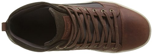 Geox U Taiki B Abx Un Chaussures En Cuir Haut Baskets / Chaussures Marron
