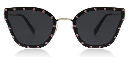 Valentino VA2028 300387 Light Gold VA2028 Butterfly Sunglasses Lens Category 3