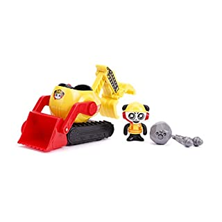 Jada Toys Ryan's World, Combo Panda's Bulldozer Vehicle with Collectible Figure, for Kids Aged 3 and Up