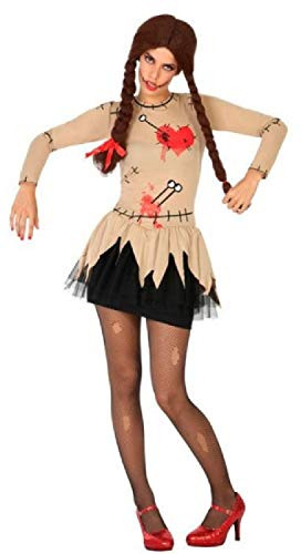 Ladies Sexy Voodoo Doll Halloween Horror Carnival Scary Creepy Fancy Dress Costume Outfit UK 8-18 (UK 8-10) -
