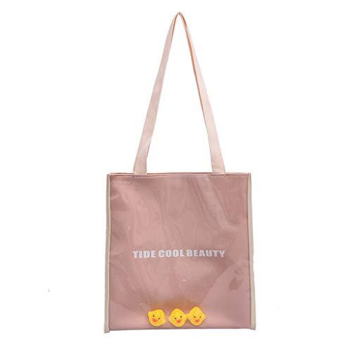 Pengy Student Letter Bag Jelly Little Duck Transparent Bag Package Messenger Bag PVC Tote Handbags Crossbody Bag