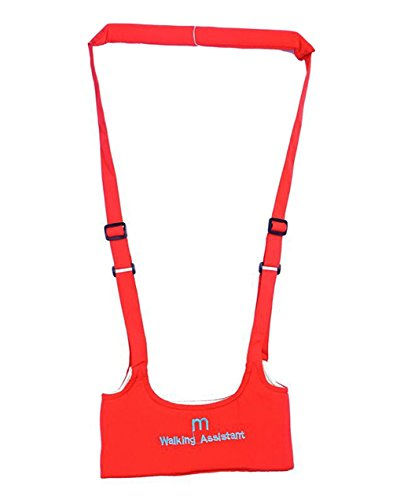 (Baby Toddler Learn to Walk Walking Harness Aid Assistant Safety Rein Train Walking Protective Belt (Red))