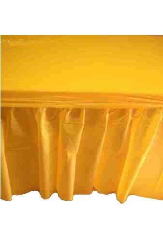 Kwik-Cover KS3096PK-Gold PKG. Gold Kwik-Skirt With 30'' X 96'' White Cover Fitted Table Cover With Skirt, (1 full case of 10) by Kwik-Covers