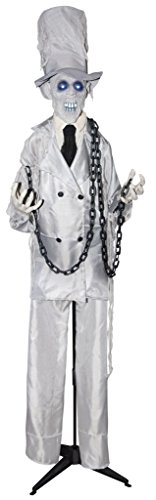 The Gothic Collection Lifesize 6' Animated Chained Ghoul With Top Hat Halloween Prop Decoration ()