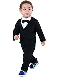 47d972a3d Baby Boys Gentleman Sets Blazer and Pant and Long Sleeve Shirt 3pcs Leisure  Suit