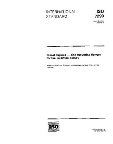ISO 7299:1996, Diesel engines - End-mounting flanges for fuel injection pumps