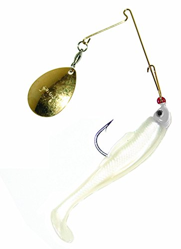 Strike King Redfish Magic Saltwater Spinnerbait (Pearl/Pearl Head, 0.125-Ounce) (0.125 Ounce Jig Head)