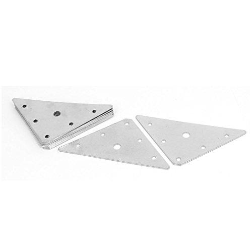 Flat Triangle - uxcell Furniture 89mmx89mm Metal Screw Fixed Triangle Flat Repair Plates Brackets 10pcs