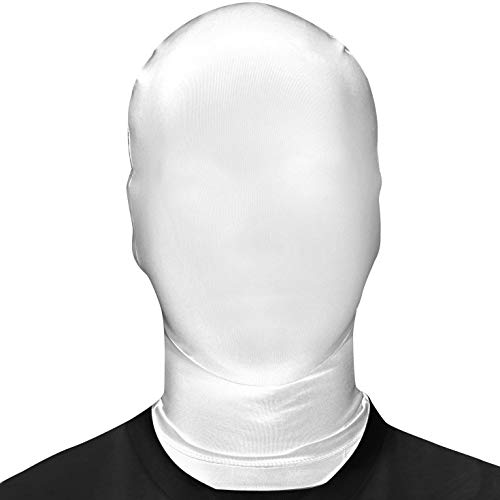 Sooleo Breathable Mask Hood Face Cover, Comfy Spandex Zentai Costume (White) for $<!--$9.95-->