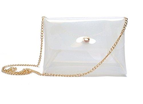 White Hologram Messenger Bag Women's Clutch Transparent Shoulder Purse Remeehi Bag P5z1qwq