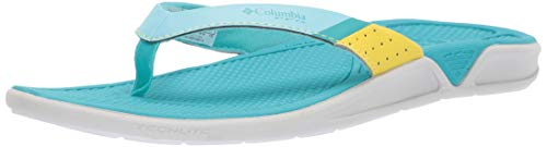 Sandals Blue Columbia - Columbia PFG Women's Rostra PFG Sport Sandal, Coastal Blue, Geyser, 8 Regular US