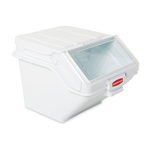 Rubbermaid Commercial ProSave Shelf Ingredient Bin with Scoop, 200-Cup, White, FG9G5800WHT ()