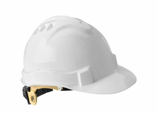 Gateway Safety 72200 Serpent High Density Polyethylene Safety Helmet with Ratchet Suspension, Type I/Class E, White by Gateway Safety (Image #1)