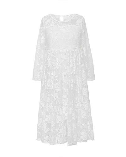 Girl bridesmaid Lace Long Dress-VYU Age 2-12 Prom boho maxi Flower girl -