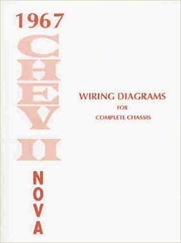 1967 chevy ii & nova wiring diagram manual reprint paperback – 1967