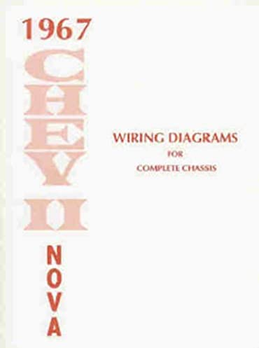 1967 chevy ii nova wiring diagram manual reprint chevrolet rh amazon com