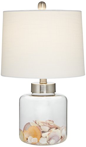 Bedroom Decorative Desk Lamps - Glass Canister Small Fillable Accent Lamp