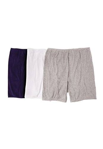 Comfort Choice Women's Plus Size 3-Pack Bloomers Basic Pack,11