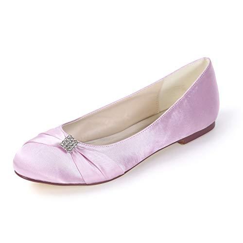 Autunno In Cravatta tacchi Scarpe Appartamenti Sposa A 1 Raso Nastro Rotondo Pink Tacco Chunky Donne Da Cm L tc qwYRv0x