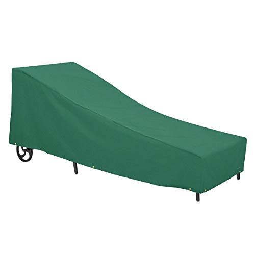 Classic Accessories 55-440-041101-11 Atrium Patio Chaise Lounge Cover, Large, Green (Lounge Ideas Furniture)