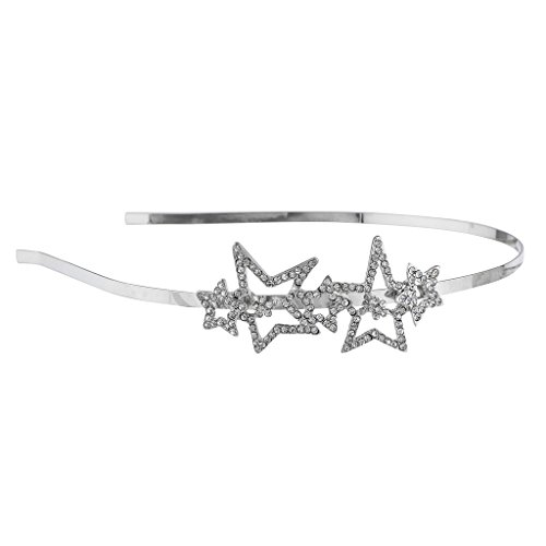 Lux Accessories Silver Tone Crystal Rhinestone MultipleStar Metal (Moveable Cat Tail For Adults)