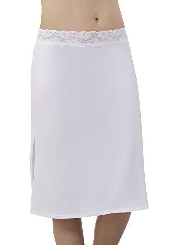 Brilliance by Vanity Fair Women's Stretch Waist Half Slip 11073, Star White, Large (24